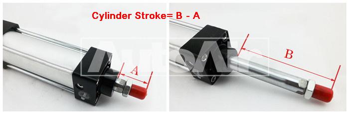 SC cylinder stroke