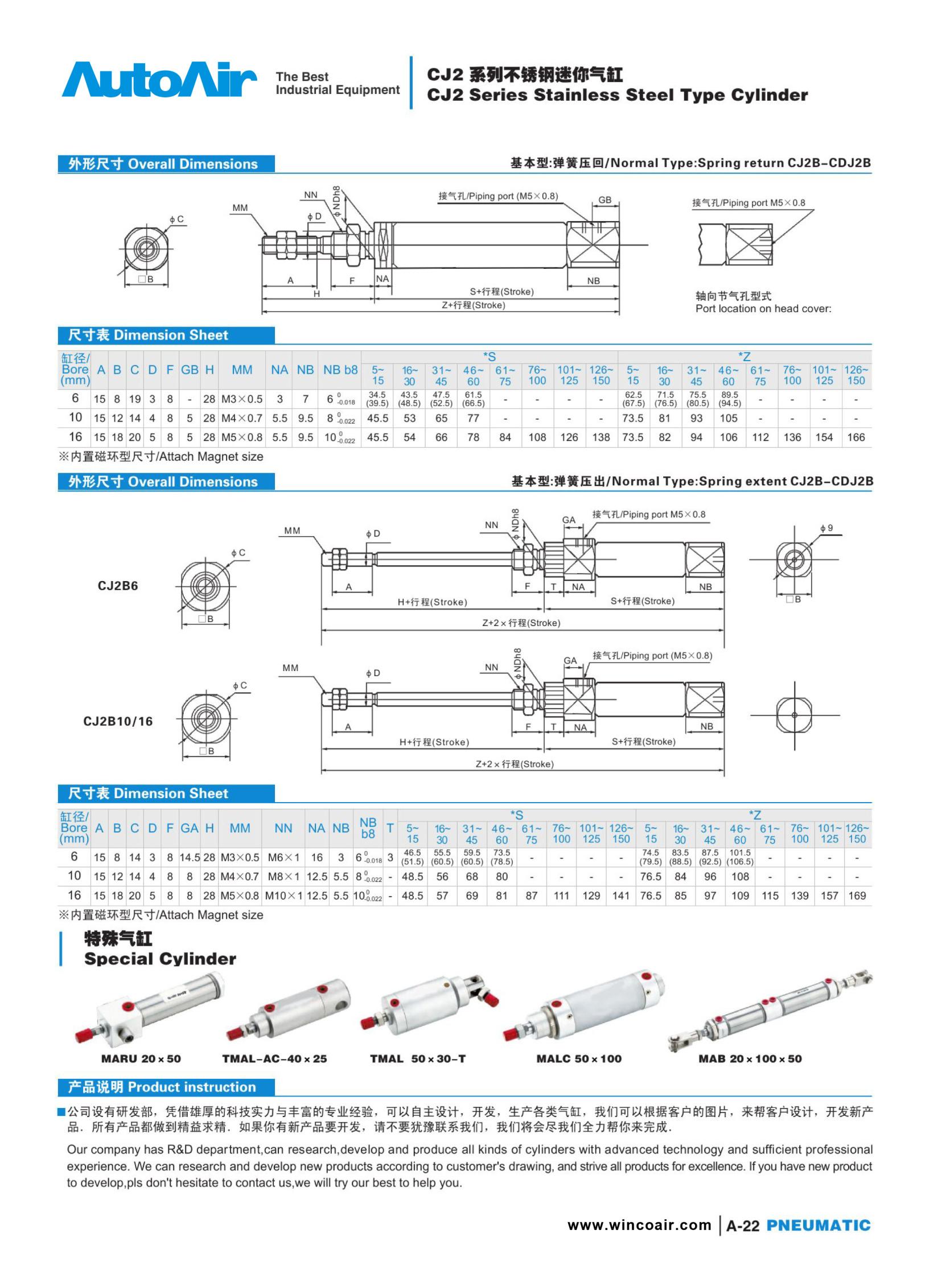 pneumatic cylinder(22)