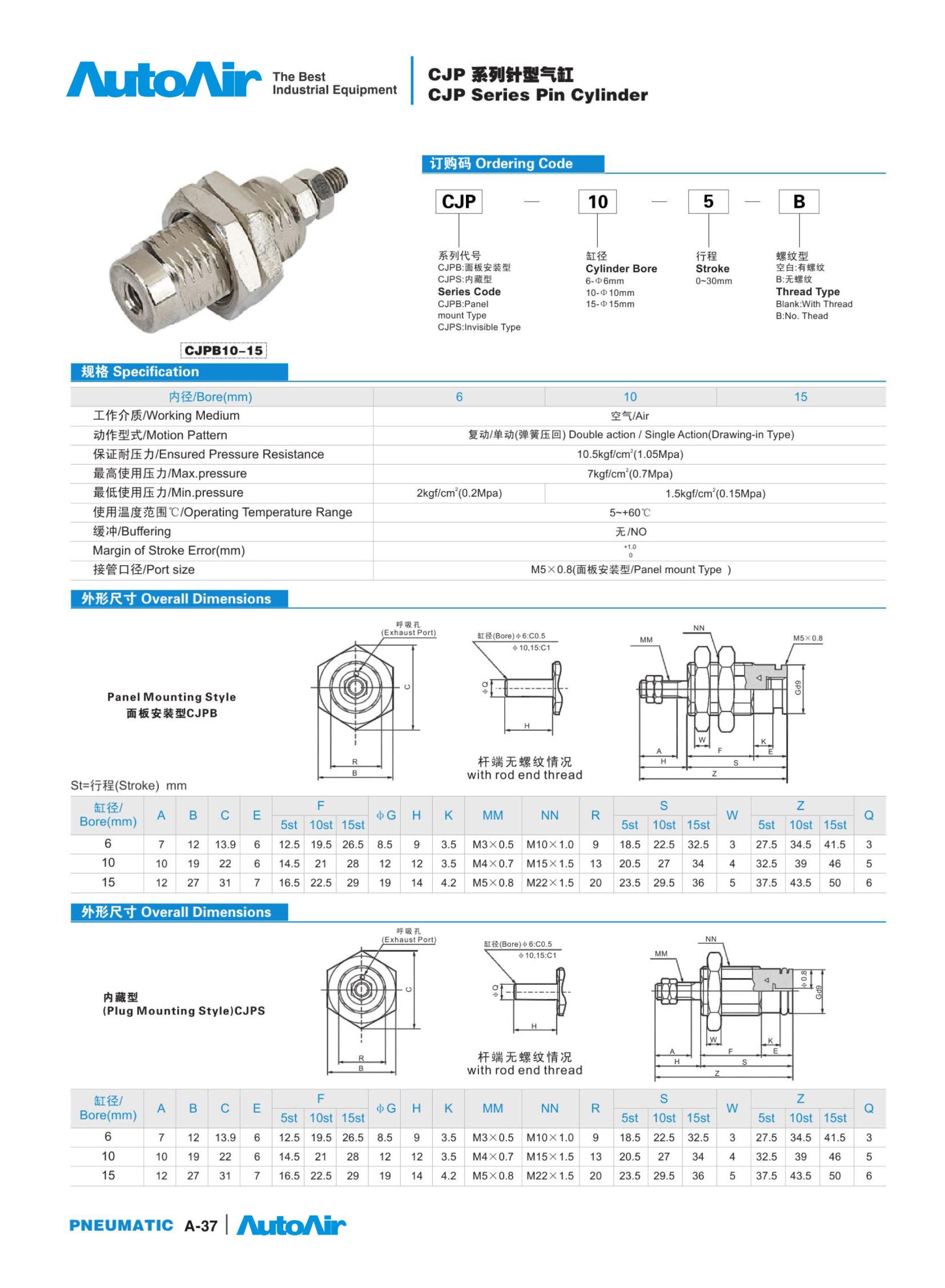 pneumatic cylinder(37)
