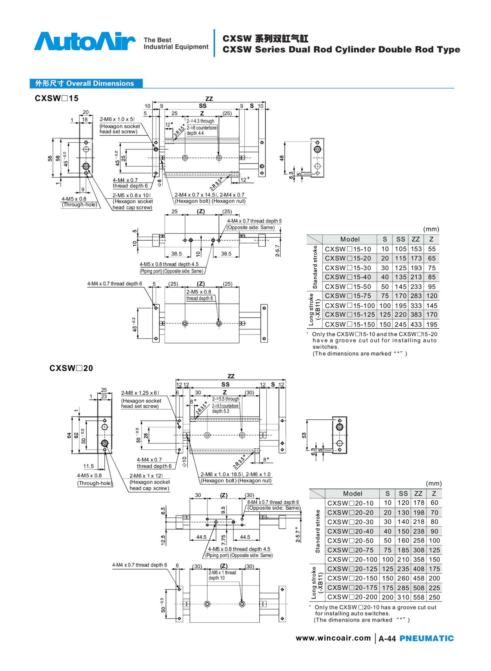pneumatic cylinder(44)