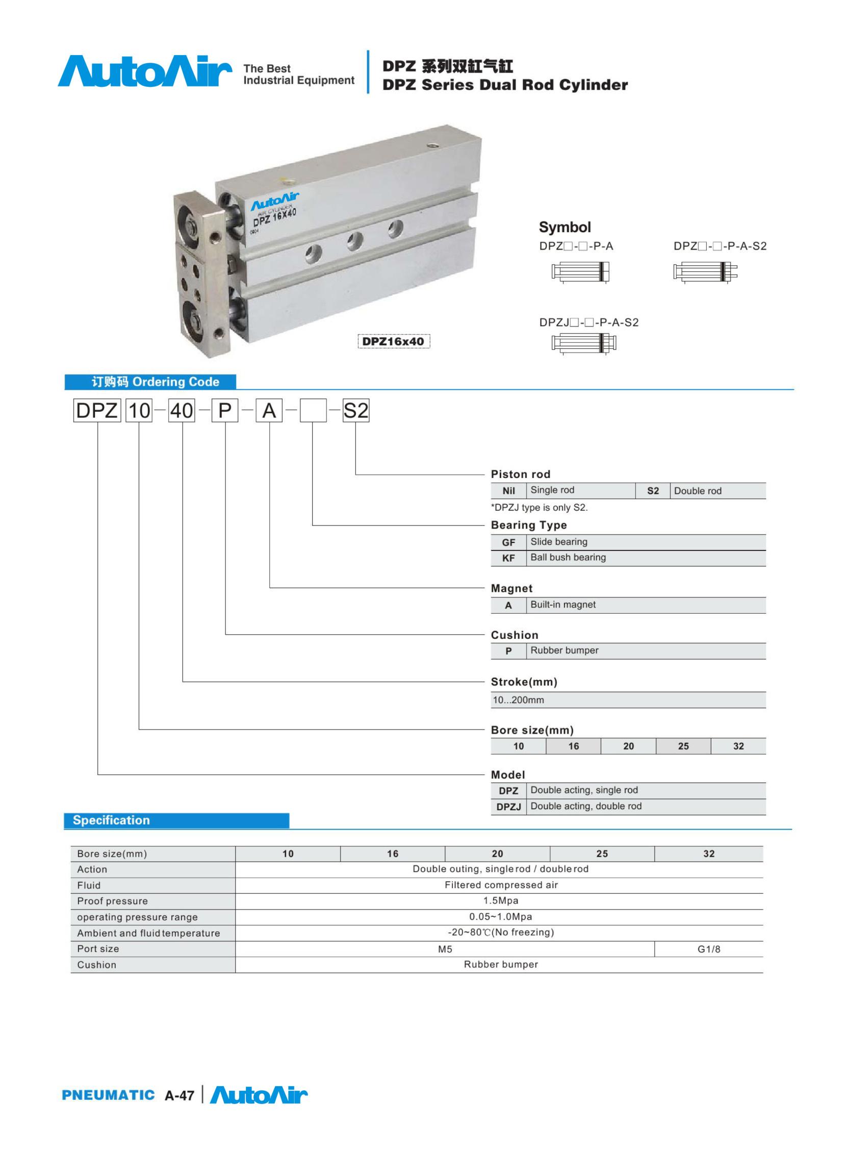 pneumatic cylinder(47)